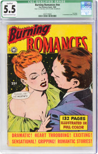 Fox Giants: Burning Romances (Fox Features Syndicate, 1949) CGC Qualified FN- 5.5 Cream to off-white pages