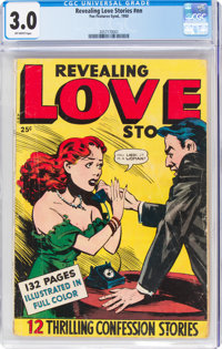 Fox Giants: Revealing Love Stories (Fox Features Syndicate, 1950) CGC GD/VG 3.0 Off-white pages
