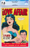 Golden Age (1938-1955):Romance, My Love Affair #4 (Superior Comics, 1950) CGC FN/VF 7.0 Cream to off-white pages....