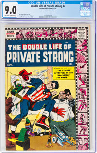 The Double Life of Private Strong #2 (Archie, 1959) CGC VF/NM 9.0 Off-white to white pages