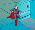 Animation Art:Production Cel, Super Friends Superman Production Ce...