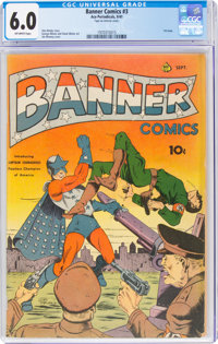 Banner Comics #3 (Ace, 1941) CGC FN 6.0 Off-white pages