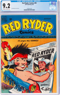 Red Ryder Comics #85 (Dell, 1950) CGC NM- 9.2 Off-white to white pages