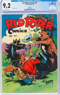 Red Ryder Comics #34 File Copy (Dell, 1946) CGC NM- 9.2 Off-white pages
