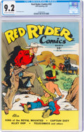 Golden Age (1938-1955):Western, Red Ryder Comics #32 (Dell, 1946) CGC NM- 9.2 Off-white to white pages....
