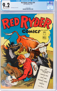 Red Ryder Comics #20 (Dell, 1944) CGC NM- 9.2 Off-white to white pages
