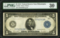 Large Size:Federal Reserve Notes, Fr. 855b $5 1914 Federal Reserve Note PMG Very Fine 30.. ...