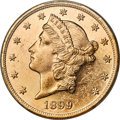Liberty Double Eagles, 1899 $20 MS62 Prooflike PCGS....