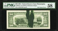 Green Ink Smear on Back Error Fr. 2073-C $20 1981 Federal Reserve Note. PMG Choice About Unc 58
