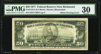 Full Face to Back Offset Error Fr. 2119-E $50 1977 Federal Reserve Note. PMG Very Fine 30
