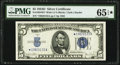 Fr. 1654* $5 1934D Wide I Silver Certificate Star. PMG Gem Uncirculated 65 EPQ*