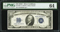 Small Size:Silver Certificates, Fr. 1704* $10 1934C Silver Certificate Star. PMG Choice Uncirculated 64.. ...