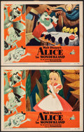 "Movie Posters:Animation, Alice in Wonderland (RKO, 1951). Very Fine-. Lobby Cards (2) (11"" X 14""). Animation.. ... (Total: 2 Items)"