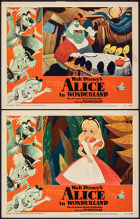 "Alice in Wonderland (RKO, 1951). Very Fine-. Lobby Cards (2) (11"" X 14""). Animation. ... (Total: 2 Items)"