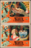 """Movie Posters:Animation, Alice in Wonderland (RKO, 1951). Very Fine-. Lobby Cards (2) (11"""" X 14""""). Animation.. ... (Total: 2 Items)"""