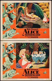 """Alice in Wonderland (RKO, 1951). Very Fine-. Lobby Cards (2) (11"""" X 14""""). Animation. ... (Total: 2 Items)"""