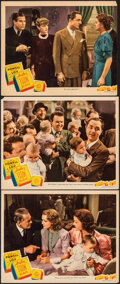"Movie Posters:Mystery, Another Thin Man (MGM, 1939). Overall: Fine/Very Fine. Lobby Cards (2) (11"" X 14"") & Trimmed Lobby Card (11"" X 13.5""). Myste... (Total: 3 Items)"