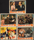 "Movie Posters:Comedy, Dancing Co-Ed (MGM, 1939). Fine+. Trimmed Title Lobby Card & Trimmed Lobby Cards (4) (10.75"" X 13.75""). Comedy.. ... (Total: 5 Items)"