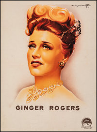 """Ginger Rogers Lot (Paramount, 1937). Fine+ on Linen. French Personality Poster (23"""" X 31.5"""") Roger Soubie Artw..."""