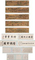 Works on Paper, Suzhou School After Qiu Ying (Chinese, 1482-1559). Along the River During the QingMing Festival, Qing Dynasty. Handscrol...