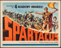 """Movie Posters:Action, Spartacus (Universal International, R-1961). Folded, Very Fine. Half Sheet (22"""" X 28""""). Action.. ..."""