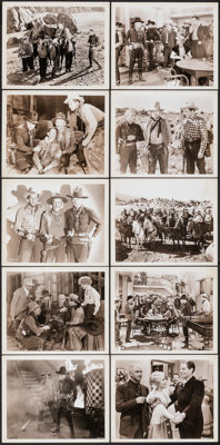 """3 on the Trail & Other Lot (Goodwill Pictures, R-1946). Fine+. Photos (33) (Approx. 8"""" X 10""""). Western..."""