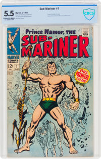 The Sub-Mariner #1 (Marvel, 1968) CBCS FN- 5.5 Cream to off-white pages