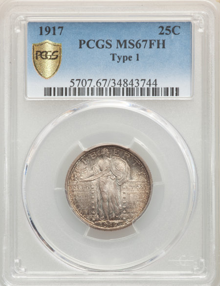 1917 Type One, FH PCGS Secure 67 PCGS