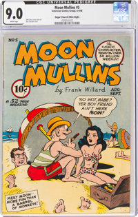 Moon Mullins #5 Mile High Pedigree (ACG, 1948) CGC VF/NM 9.0 White pages