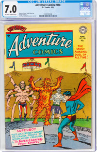 Adventure Comics #198 (DC, 1954) CGC FN/VF 7.0 Off-white to white pages