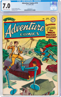 Adventure Comics #179 (DC, 1952) CGC FN/VF 7.0 Off-white to white pages