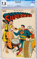 Golden Age (1938-1955):Superhero, Superman #42 (DC, 1946) CGC VF- 7.5 Off-white to white pages....