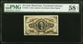 Fractional Currency:Third Issue, Fr. 1253 10¢ Third Issue PMG Choice About Unc 58 EPQ.. ...