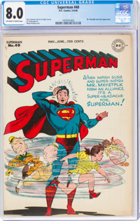 Superman #40 (DC, 1946) CGC VF 8.0 Off-white to white pages