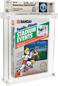 Stadium Events: Family Fun Fitness Wata 9.2 A Sealed NES Bandai 1987 USA