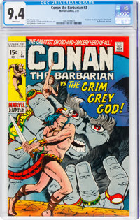 Conan the Barbarian #3 (Marvel, 1971) CGC NM 9.4 White pages
