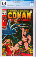 Bronze Age (1970-1979):Adventure, Conan the Barbarian #4 (Marvel, 1971) CGC NM 9.4 White pages....