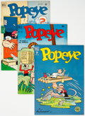 Golden Age (1938-1955):Cartoon Character, Popeye #6, 16, and 17 File Copies Group (Dell, 1949-50) Condition: Average VF+.... (Total: 3 Comic Books)