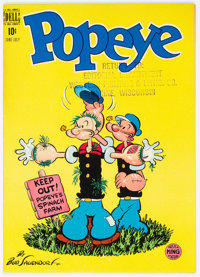 Popeye #7 File Copy (Dell, 1949) Condition: VF/NM