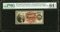 Fractional Currency:Fourth Issue, Fr. 1301 25¢ Fourth Issue PMG Choice Uncirculated 64 EPQ.. ...