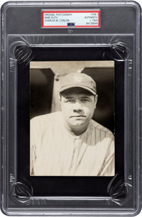 "Circa 1924 Babe Ruth Famous ""Bubble Gum Cap"" Photograph by Charles Conlon, PSA/DNA Type 1"