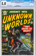 Golden Age (1938-1955):Horror, Journey Into Unknown Worlds #15 (Atlas, 1953) CGC VG/FN 5.0 Cream to off-white pages....