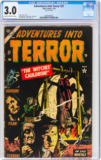 Adventures Into Terror #27 (Atlas, 1954) CGC GD/VG 3.0 Cream to off-white pages