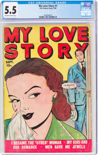 My Love Story #1 (Fox, 1949) CGC FN- 5.5 Off-white to white pages