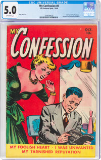 My Confession #8 (Fox Features Syndicate, 1949) CGC VG/FN 5.0 Off-white pages