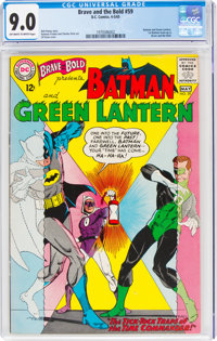 The Brave and the Bold #59 Batman and Green Lantern (DC, 1965) CGC VF/NM 9.0 Off-white to white pages