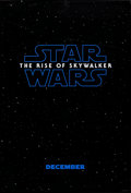 """Movie Posters:Science Fiction, Star Wars: The Rise of Skywalker (Walt Disney Studios, 2019). Rolled, Very Fine. One Sheet (27"""" X 40"""") DS, Advance. S..."""