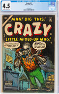 Golden Age (1938-1955):Humor, Crazy #5 (Atlas, 1954) CGC VG+ 4.5 Off-white to white pages....