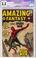 Silver Age (1956-1969):Superhero, Amazing Fantasy #15 (Marvel, 1962) CGC Apparent VG- 3.5 Slight (C-1) Off-white pages....