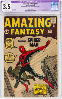 Amazing Fantasy #15 (Marvel, 1962) CGC Apparent VG- 3.5 Slight (C-1) Off-white pages